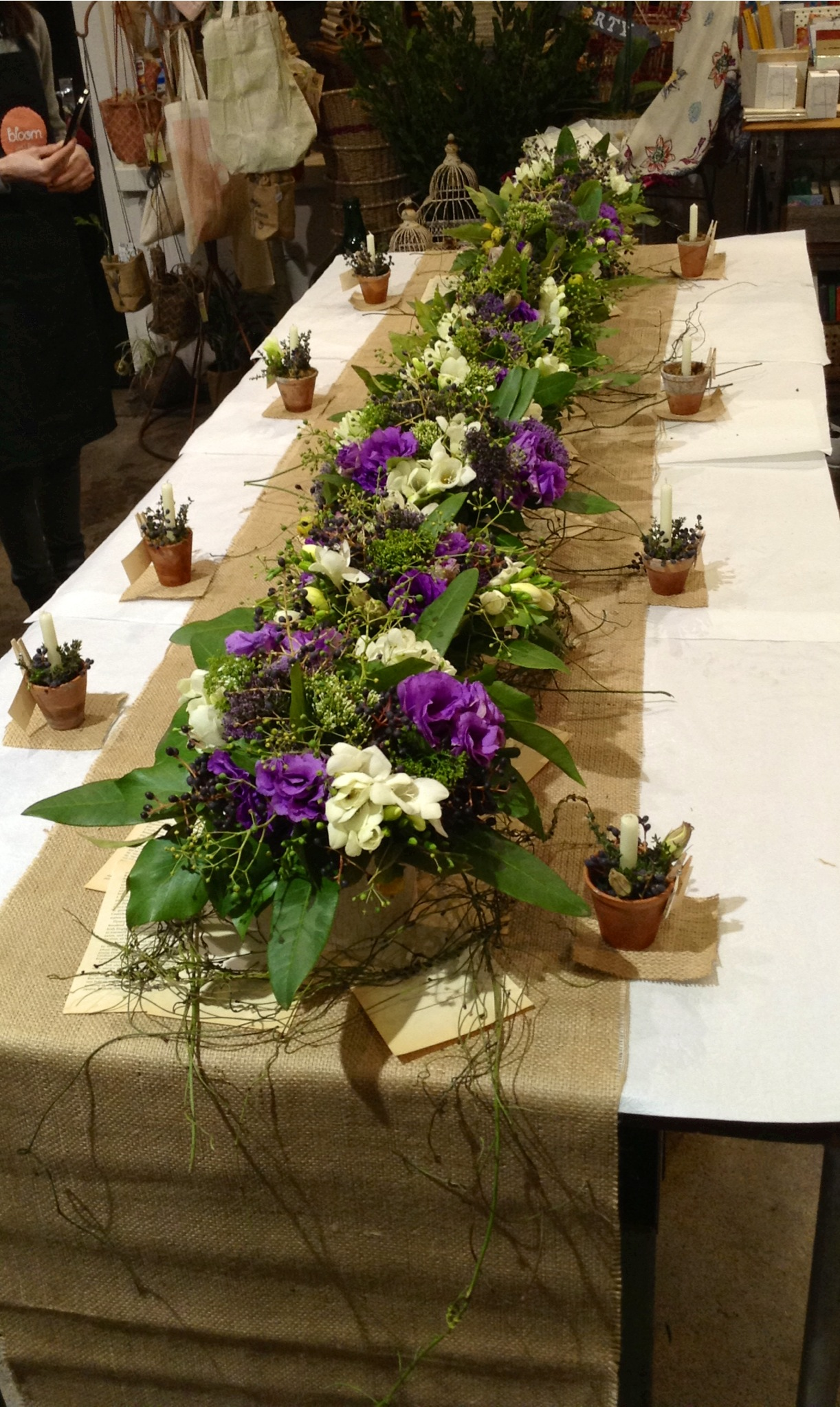 bouquets and table centre pieces filled our geelong courses and workshops last week with fun and
