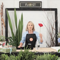 how to arrange flowers at home
